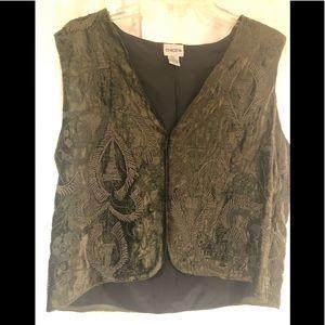 Velvet  Dark Olive Green Vest